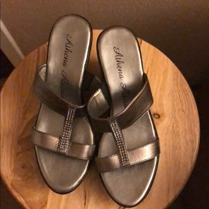 Athena Alexander silver sandals